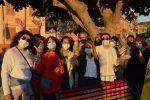 Giornata mondiale contro l'Omofobia: inaugurata la panchina Arcobaleno a Tropea. FOTO-VIDEO