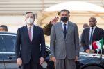 Mario Draghi e Abdelhamid Dabaiba