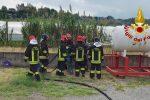 Soverato, esercitazione del nucleo regionale NBCR dei pompieri