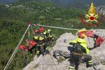 A Canolo il corso di formazione speleo alpino fluviale (Saf avanzato) dei Vigili del fuoco