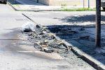 Messina, bruciati 15 cassonetti in centro città: 8mila euro di danni