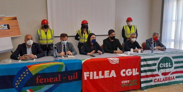 cgil cisl e uil, conferenza stampa, incidenti sul lavoro, sindacati calabria, Calabria, Cronaca