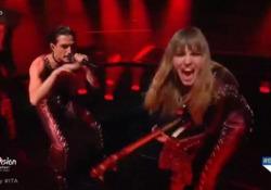 Eurovision 2021, il video dell'esibizione dei Måneskin con «Zitti e buoni» Il gruppo italiano sul palco di Rotterdam - Ansa