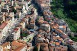 Una veduta aerea del centro storico di Nicastro