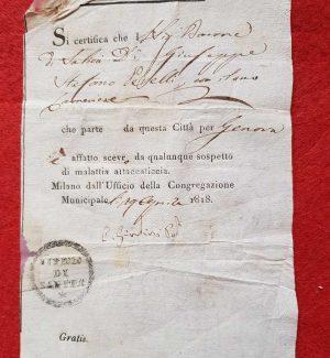 Il pass vaccinale che andava allegato al passaporto... Esisteva già nel 1818