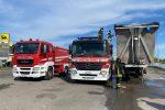 A fuoco un camion che trasportava rifiuti speciali a Pietrapaola