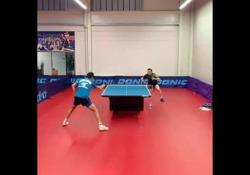 Ping pong, l'allenamento è una scarica di colpi L'allenamento tra Simon Gauzy e Can Akkuzu è una scarica di colpi potentissimi - Dalla Rete