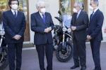 Presentate a Mattarella le nuove Moto Guzzi V85TT