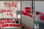 Scritte rosse sulle lapidi. Profanato il cimitero di Rossano