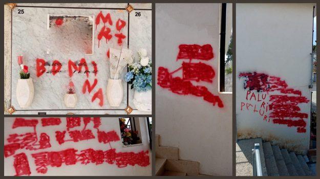 atto vandalico, cimitero rossano, Sicilia, Cronaca
