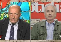 """Scontro tra Sallusti e Travaglio sul caso Davigo: «Lui si sarebbe arrestato» Toni accesi tra i due direttori, ospiti del programma """"Di Martedì"""" - Ansa"""