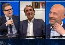 """Vialli e Mancini, amici da 40 anni: «Solo una volta non ci siamo parlati per 10 giorni» Scherzi e risate tra i due ex calciatori, ospiti del programma """"Che tempo che fa"""" - Ansa"""