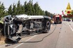 Impatto frontale tra furgone ed auto sulla SS106 a Simeri Mare. Un ferito in ospedale