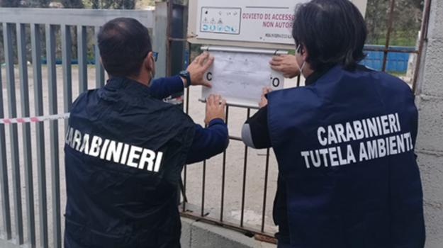 castroreale, sequestro aree stoccaggio rifiuti, terme vigliatore, Messina, Cronaca