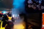 Cosenza, autoarticolato in fiamme sull'A2: limitati i danni