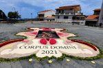 La storica Infiorata del Corpus Domini a San Pier Niceto non si arrende al Covid