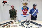 Armi anche nella cuccia di un pitbull, scoperto un arsenale nascosto a Gioia Tauro: 2 arresti