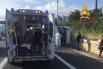Lamezia, violento scontro tra camper e auto: tra i passeggeri anche una donna incinta