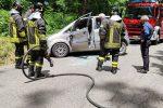 Serra San Bruno, macchina va a sbattere contro albero. Solo tanta paura per una donna