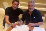 L'allenatore Francesco Modesto e il presidente del Crotone Gianni Vrenna