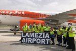 Lamezia Terme, atterrato il primo volo EasyJet proveniente da Berlino