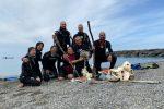 Fondali marini ripuliti dal Gruppo subacqueo di Paola