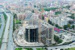 Il nuovo tribunale di Reggio Calabria in costruzione