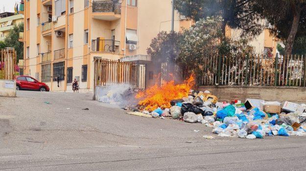 incendio, reggio calabria, rifiuti, Reggio, Cronaca