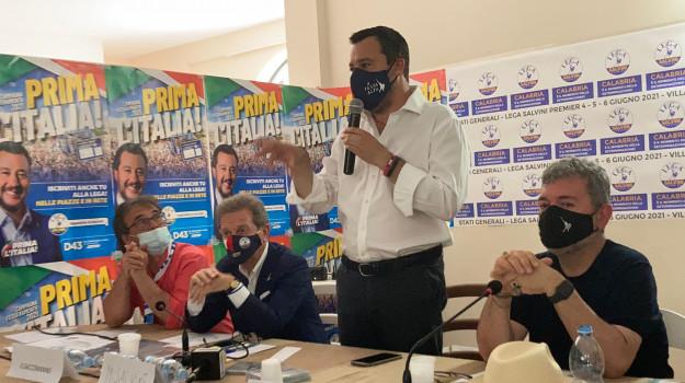 """Stati Generali Lega in Calabria, Salvini: """"L'indicazione del nome spetta a Forza Italia"""""""