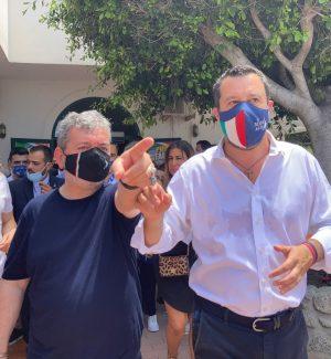 Nino Spirlì e Matteo Salvini