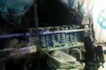 In fiamme un tir pieno di zolfo a Tremestieri: provvidenziale intervento dei vigili del fuoco