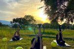 """""""Euphoria"""" piace: oltre 160 partecipanti per yoga, tai chi e pilates fra gli scavi del Parco di Naxos"""