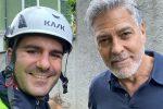 Maltempo: sopralluogo di George Clooney sui luoghi del disastro nel Comasco - FOTO