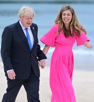 Boris Johnson con la moglie Carrie Symonds