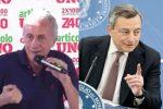 """Travaglio attacca Draghi: """"Un figlio di papà"""". Ma il premier perse padre a 15 anni e madre a 19"""