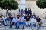 Gli artisti con Bolognari, Tigano, Vanaria e Cavallaro