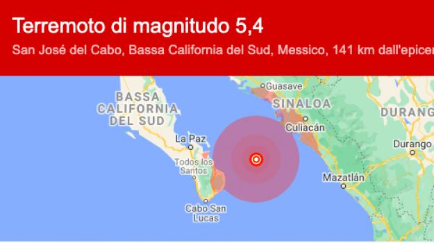 Bassa California, Messica, terremoto, Sicilia, Mondo
