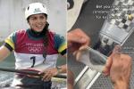 L'australiana Fox vince il bronzo dopo aver aggiustato la canoa con un preservativo