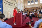 Il sindaco Maria Limardo (vice presidente dell'Anci) durante il suo intervento al Consiglio nazionale