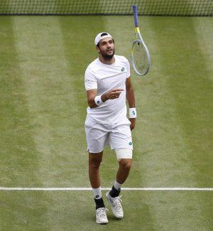 Matteo Berrettini durante la finale di Wimbledon