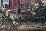 Vasto incendio in zona Gurnali a Reggio: abitazioni evacuate. E il vento alimenta le fiamme