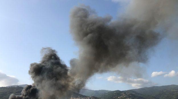 incendio campo rom scordovillo, lamezia, Catanzaro, Cronaca
