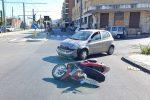 Messina, ancora uno scontro auto-scooter tra via Bonino e via Bonsignore. Un ferito