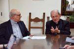 Mons. Gaetano Currà e il vescovo di Locri Gerace Francesco Oliva