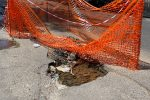 La perdita d'acqua in via Roma a Reggio Calabria