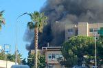 Rossano, fiamme al centro raccolta ingombranti dell'ospedale Giannettasio