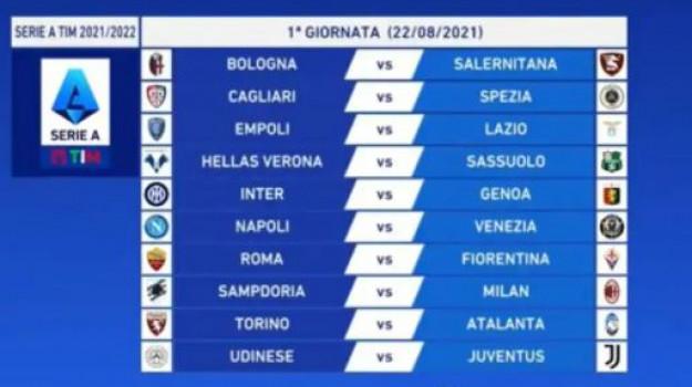 calendario serie a, serie a, Sicilia, Sport