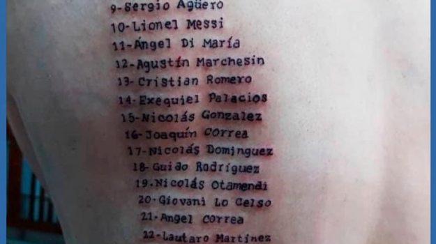 argentina, copa america, tatuaggio, tifoso, Sicilia, Sport