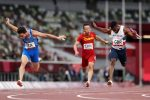 Lorenzo Patta, Lamont Marcell Jacobs, Eseosa Desalu e Filippo Tortu 4x100 Italia storico oro