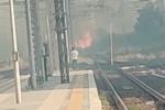 Incendio nella stazione di Castiglione, treni sospesi tra Paola e Cosenza